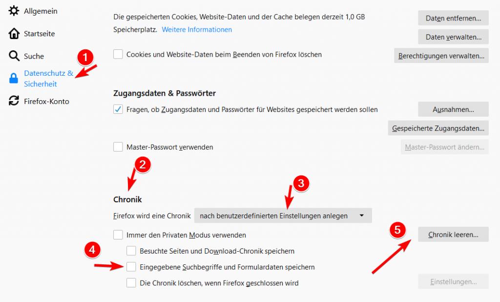 Firefox - Autofill